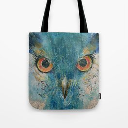 Turquoise Owl Tote Bag