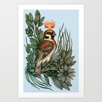 rose gold Art Prints featuring Rose Gold by Awreon