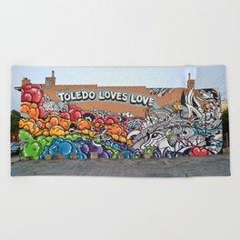 Toledo Loves Love - Mural Beach Towel
