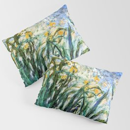 Claude Monet Yellow Irises and Malva Pillow Sham