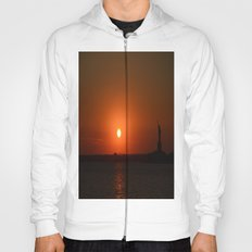 A Sunset With Lady Liberty Hoody