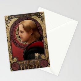 Art Nouveau THOR portrait Stationery Cards