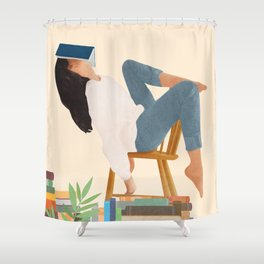 Lost in my books Shower Curtain