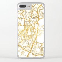 JERUSALEM ISRAEL PALESTINE CITY STREET MAP ART Clear iPhone Case
