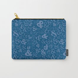 Ampersands - Blue Carry-All Pouch