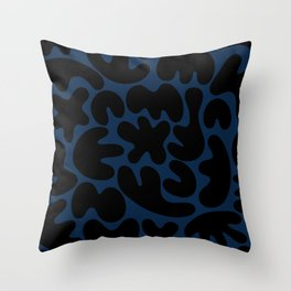 Blob Collage - Navy Throw Pillow