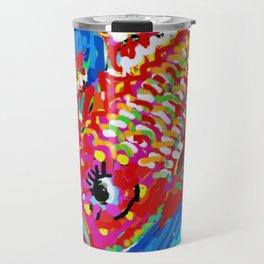 Koi  Fish Digital Drawing Travel Mug