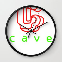 Cave Co. Wall Clock