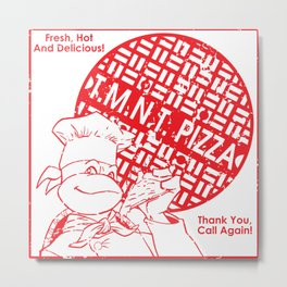 TMNT Pizza Metal Print