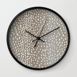 Antelope Fawn Print Wall Clock