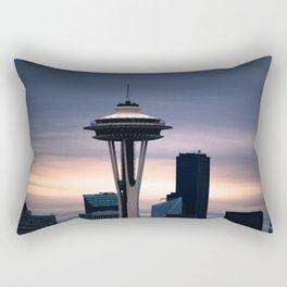 Space Needle Sunset - Seattle Nights Rectangular Pillow