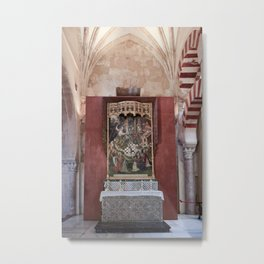 Conjoined Faiths (Mosque-Cathedral of Cordoba) Metal Print