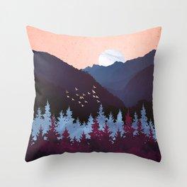 Mulberry Dusk Throw Pillow