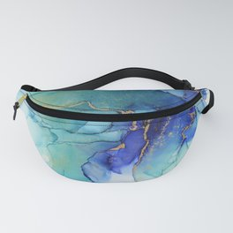 Electric Waves Violet Turquoise - Part 2 Fanny Pack