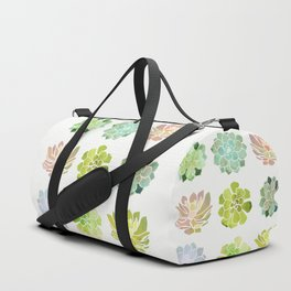 Spring Succulents Duffle Bag