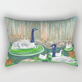 Water Friends drawing by Amanda Laurel Atkins Rectangular Pillow