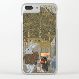 a little woodland adventure Clear iPhone Case