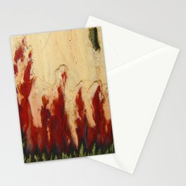 Christmas Tree Plume Agate Stationery Cards