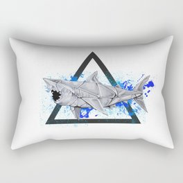Paper Shark- Wild World of Paper Series Rectangular Pillow