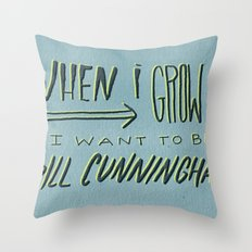 I Want to Be Bill Cunningham Throw Pillow