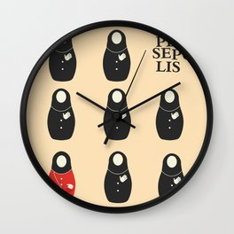Persepolis, movie Poster, graphic novel and cartoon by Marjane Satrapi, a bipgraphy about Iran, Wall Clock