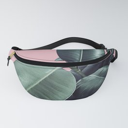 Ficus Elastica #14 #CoralBlush #decor #art #society6 Fanny Pack