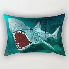 Shark Modern Art Illustration Rectangular Pillow
