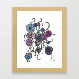 Chaotic Blooms Framed Art Print