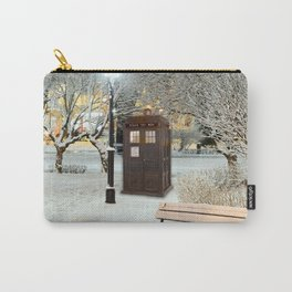 TARDIS in SNOW Carry-All Pouch
