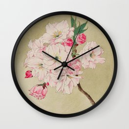 Fukurokuju - God of Longevity Cherry Blossoms Wall Clock