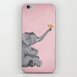 A Little Birdie Told Me - Elephant and Bird iPhone Skin