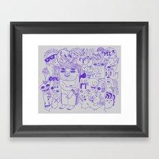 Funny Guys Framed Art Print
