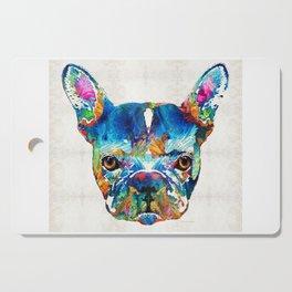 Colorful French Bulldog Dog Art By Sharon Cummings Cutting Board