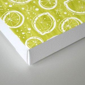 Atomic Lemonade_Green and White Canvas Print