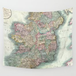 Vintage Map of Ireland (1799) Wall Tapestry