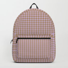Lilac Houndstooth Backpack
