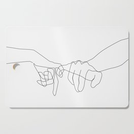 Pinky Swear Cutting Board