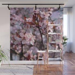 Cherry Plum Tree Pink Wall Mural