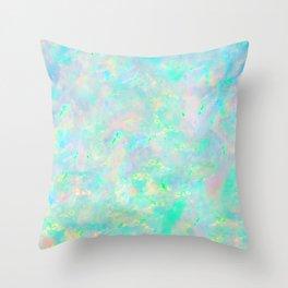 Light Blue Opal Throw Pillow