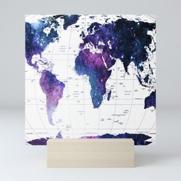 ALLOVER THE WORLD-Galaxy map Mini Art Print