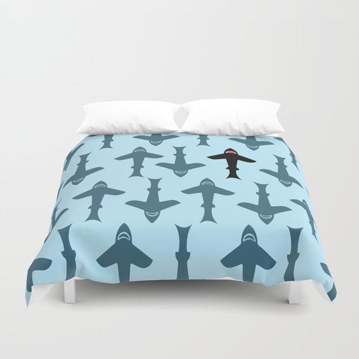 Shark Kite Duvet Cover