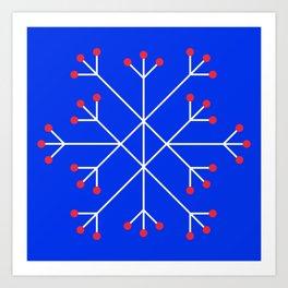 Mod Snowflake Berry Art Print