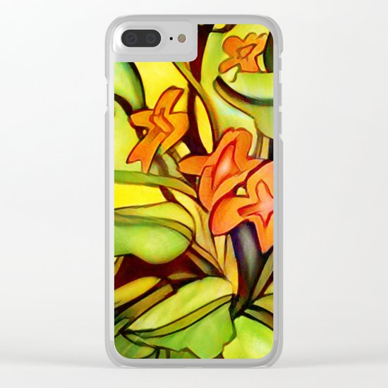 Abstract of Colors Clear iPhone Case