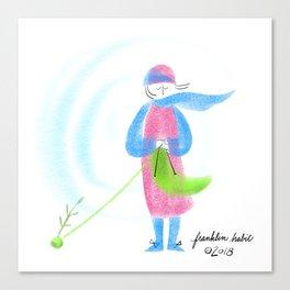 Spring Knitter Canvas Print