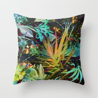 jungle Throw Pillows featuring jungle by clemm