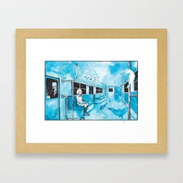 Underwater Subway Framed Art Print