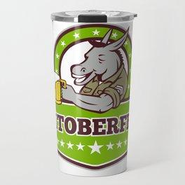 Donkey Beer Drinker Oktoberfest Retro Travel Mug