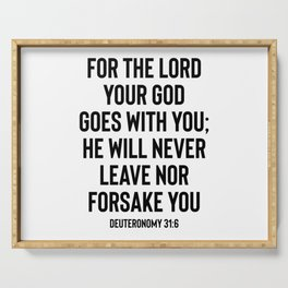 The Lord God Goes With You - Christian Serving Tray