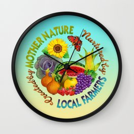 Mother Nature Local Farmer Wall Clock