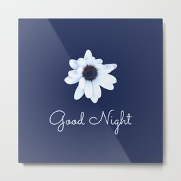 Good Night, Sleepy African Daisy Flower Metal Print